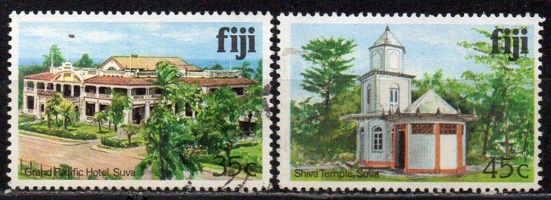 Fidschi - Inseln, Mi-Nr. 410 I X + 411 I X gest., Gebäude
