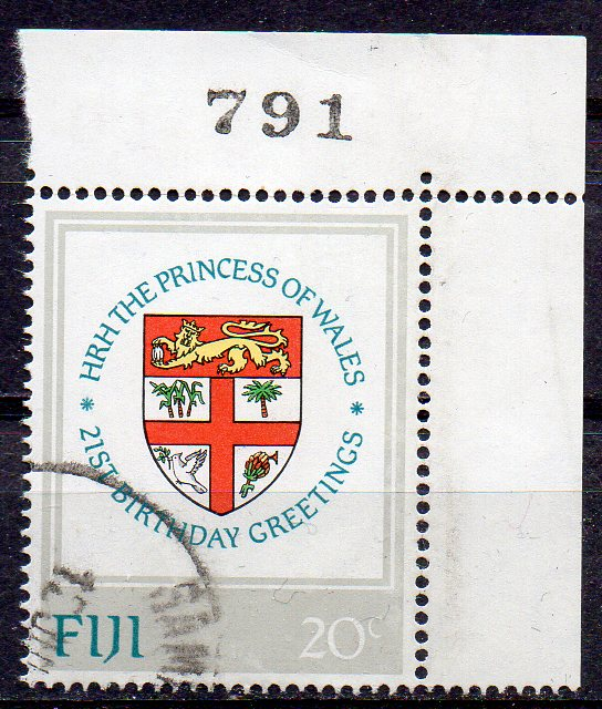 Fidschi - Inseln, Mi-Nr. 464 gest., Eckrand