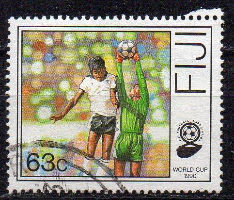 Fidschi - Inseln, Mi-Nr. 607 gest., Fußball-Weltmeisterschaft 1990