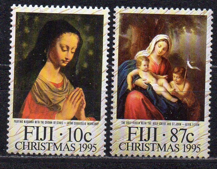 Fidschi - Inseln, Mi-Nr. 753 + 755 **, Weihnachten 1995