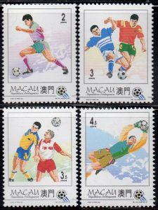 Macau, Mi-Nr. 759 - 762 **, kompl., Fußball-Weltmeisterschaft 1994 USA