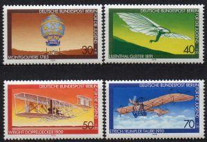 Berlin, Mi-Nr. 563 -566 **, kompl., Jugend-Marken 1978 - Luftfahrt