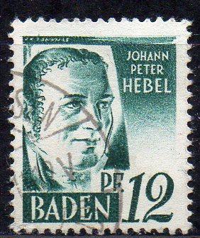 Französische Zone - Baden, Mi-Nr. 4 gest. 0