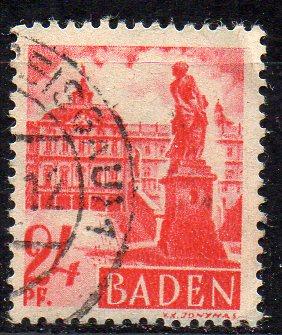 Französische Zone - Baden, Mi-Nr. 8 gest.