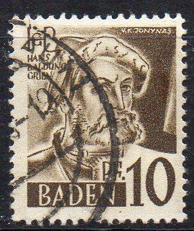 Französische Zone - Baden, Mi-Nr. 17 gest.,