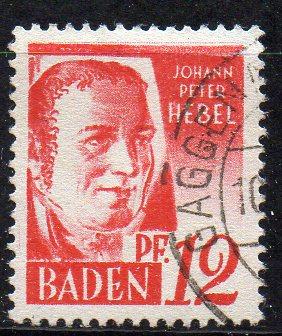 Französische Zone - Baden, Mi-Nr. 18 gest.,
