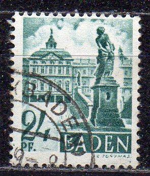 Französische Zone - Baden, Mi-Nr. 22 gest.,