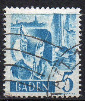 Französische Zone - Baden, Mi-Nr. 30 gest.,
