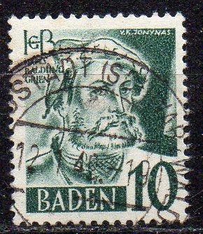 Französische Zone - Baden, Mi-Nr. 33 gest.,