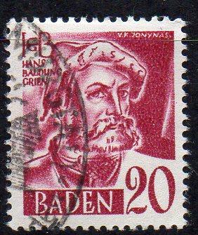 Französische Zone - Baden, Mi-Nr. 34 gest.,