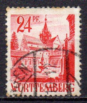 Französische Zone - Württemberg, Mi-Nr. 8 gest.