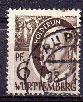 Französische Zone - Württemberg, Mi-Nr. 15 gest.