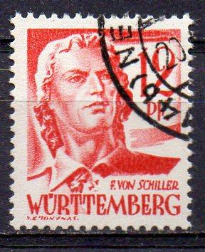 Französische Zone - Württemberg, Mi-Nr. 18 gest.