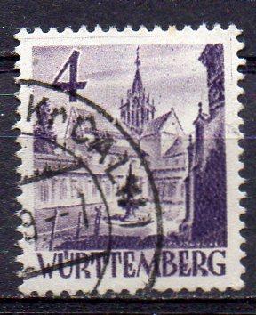 Französische Zone - Württemberg, Mi-Nr. 29 gest.