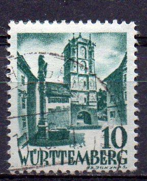Französische Zone - Württemberg, Mi-Nr. 33 gest.