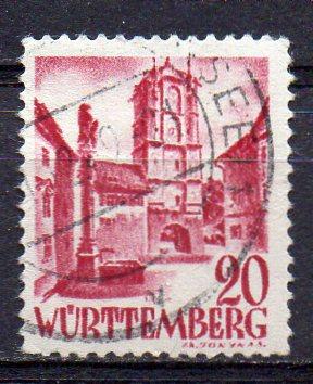 Französische Zone - Württemberg, Mi-Nr. 34 gest.
