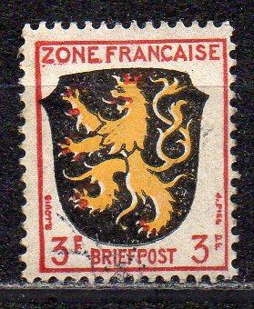 Französische Zone - Allgem. Ausgabe, Mi-Nr. 2 gest.,
