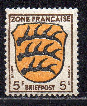 Französische Zone - Allgem. Ausgabe, Mi-Nr. 3 **