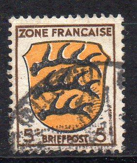 Französische Zone - Allgem. Ausgabe, Mi-Nr. 3 gest.,