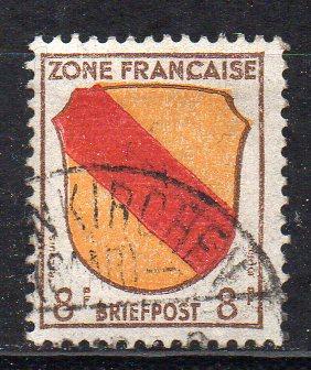 Französische Zone - Allgem. Ausgabe, Mi-Nr. 4 gest.,