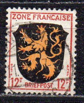 Französische Zone - Allgem. Ausgabe, Mi-Nr. 6 gest.,