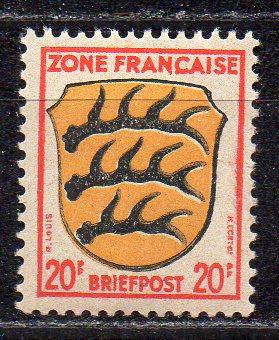 Französische Zone - Allgem. Ausgabe, Mi-Nr. 8 **