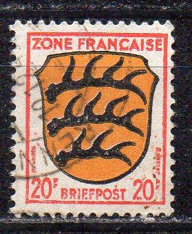 Französische Zone - Allgem. Ausgabe, Mi-Nr. 8 gest.,
