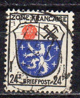Französische Zone - Allgem. Ausgabe, Mi-Nr. 9 gest.,