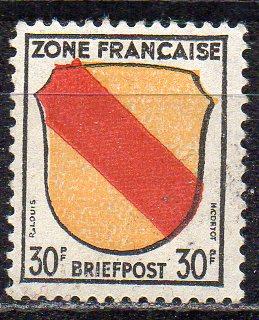 Französische Zone - Allgem. Ausgabe, Mi-Nr. 10 **