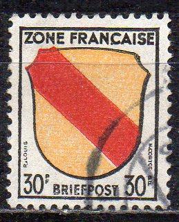 Französische Zone - Allgem. Ausgabe, Mi-Nr. 10 gest.,