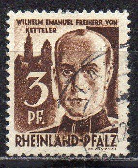 Französische Zone - Rheinland-Pfalz, Mi-Nr. 2 gest.,