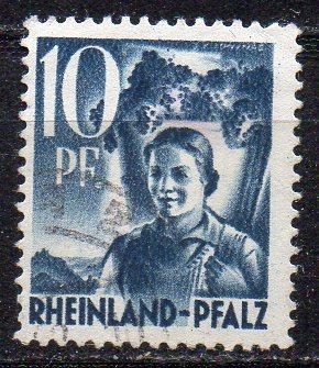 Französische Zone - Rheinland-Pfalz, Mi-Nr. 3 gest.,
