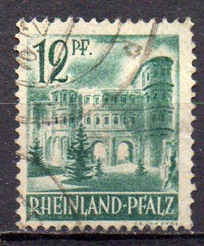 Französische Zone - Rheinland-Pfalz, Mi-Nr. 4 gest.,