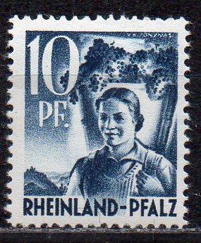 Französische Zone - Rheinland-Pfalz, Mi-Nr. 3 **