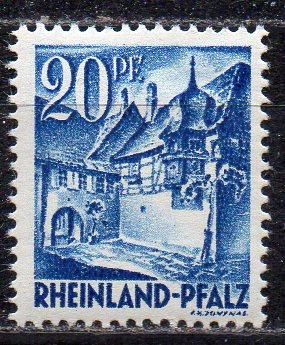 Französische Zone - Rheinland-Pfalz, Mi-Nr. 7 **