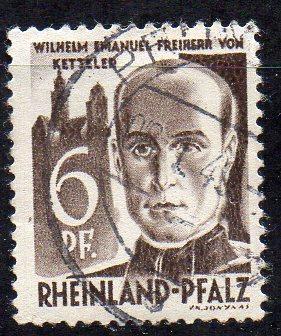 Französische Zone - Rheinland-Pfalz, Mi-Nr. 17 gest.,