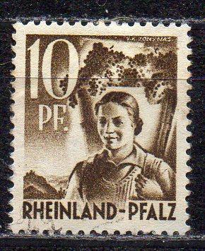 Französische Zone - Rheinland-Pfalz, Mi-Nr. 19 gest.,
