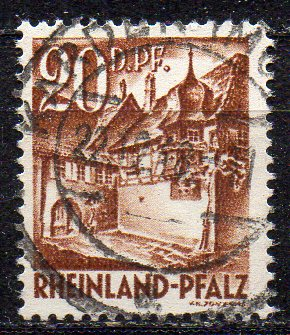 Französische Zone - Rheinland-Pfalz, Mi-Nr. 23 gest.,