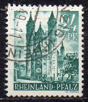 Französische Zone - Rheinland-Pfalz, Mi-Nr. 24 gest.,