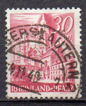 Französische Zone - Rheinland-Pfalz, Mi-Nr. 25 gest.,