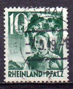 Französische Zone - Rheinland-Pfalz, Mi-Nr. 37 gest.,