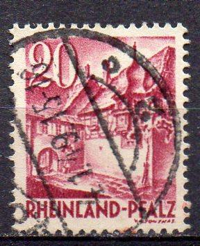 Französische Zone - Rheinland-Pfalz, Mi-Nr. 38 gest.,