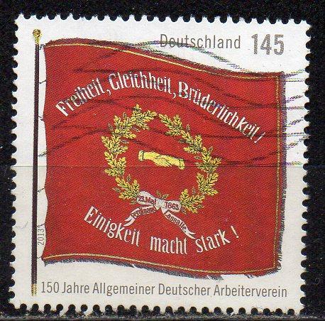 BRD, Mi-Nr. 2997 gest., 150 Jahre Deutscher Arbeiterverein