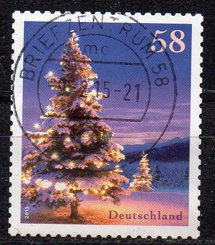 BRD, Mi-Nr. 3041 gest., gestanzt, Winterstimmung