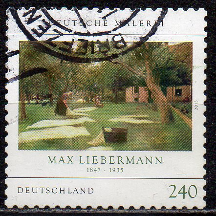 BRD, Mi-Nr. 2979 gest., gestanzt, Gemälde von Max Liebermann