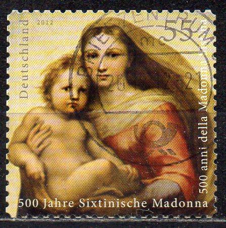 BRD, Mi-Nr. 2965 gest., gestanzt, 500 Jahre Sixtinische Modonna