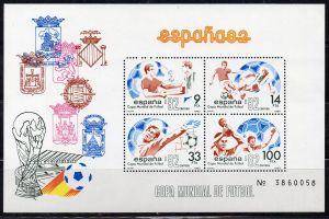 Spanien, Block Nr. 26 **, Fußball-Weltmeisterschaft 1982