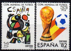 Spanien, Mi-Nr. 2532 - 2533 **, kompl., Fußball-Weltmeisterschaft Spanien 1982