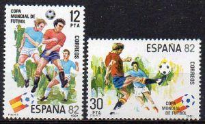 Spanien, Mi-Nr. 2496 - 2497 **, kompl., Fußball-Weltmeisterschaft Spanien 1982