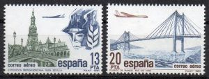 Spanien, Mi-Nr. 2524 - 2525 **, kompl., Flugpostmarken